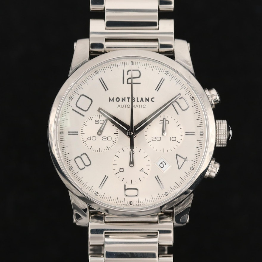 Montblanc Timewalker Stainless Steel Chronograph Automatic Wristwatch