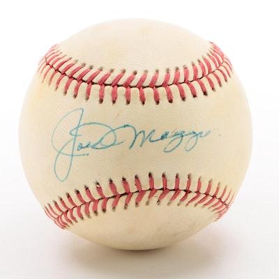 Joe DiMaggio Signed American League Baseball  Visual COA
