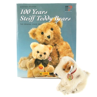 "Steiff Stuffed Animal and Gunther Pfeiffer ""100 Years Steiff Teddy Bears"" Book"