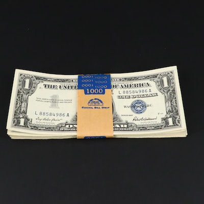 Fifty-One Higher Grade $1 Silver Certificates, Many Consecutively Numbered