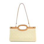 Louis Vuitton Roxbury Drive Bag in Perle Monogram Vernis and Leather with Strap