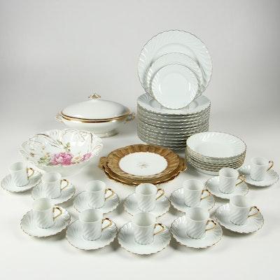 """Haviland """"Elegance"""" Porcelain Dinnerware with Other Limoges Serveware"""