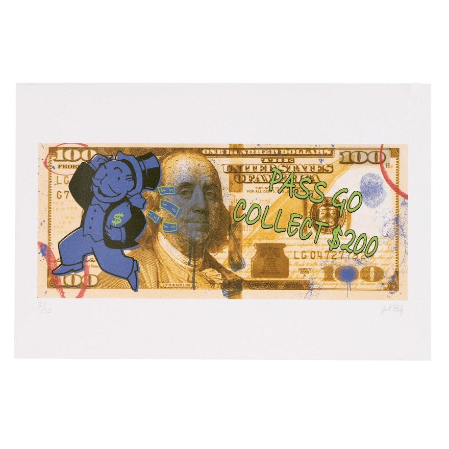 """Jack Vitaly Giclée """"Mr. Monopoly"""""""