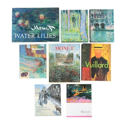 Impressionism and Nabis Art Books Including Claude Monet and Vincent van Gogh