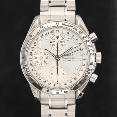 Omega Speedmaster Day - Date Stainless Steel Automatic Wristwatch, Circa 1999