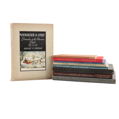 "Art Books Including ""A Treasury of American Prints"" and ""Currier & Ives"""