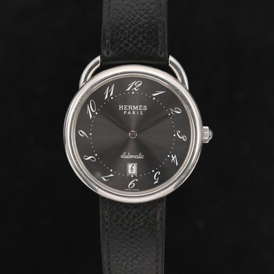 Hermès Arceau Stainless Steel Automatic Wristwatch