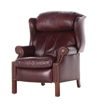 Hancock & Moore Leather Wing Back Recliner, Late 20th Century