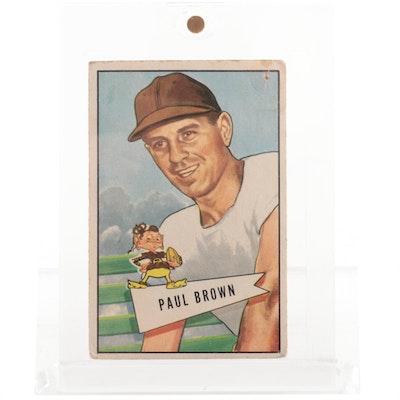 1952 Paul Brown Head Coach Cleveland Browns Bowman Football Card