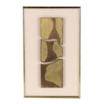Stevie Levinson Abstract Metal Relief Sculpture, Late 20th Century