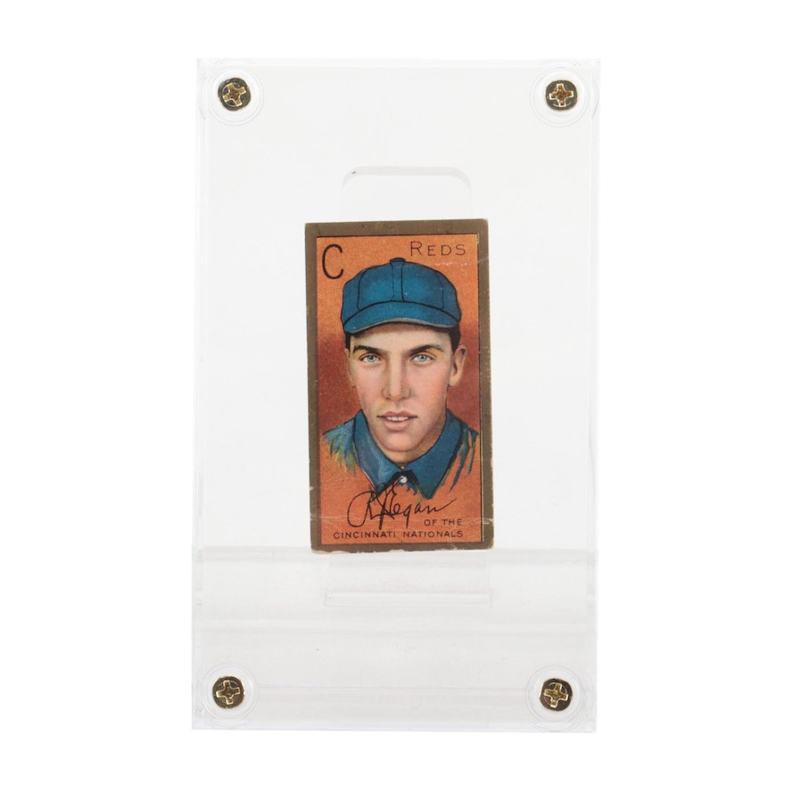 "1911 Richard Egan Reds ""T-205"" Polar Bear Tobacco Baseball Card"