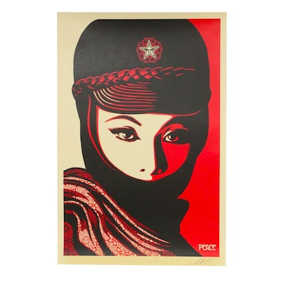 """Shepard Fairey Offset Poster """"Mujer Fatale,"""" 2019"""