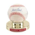 Johnny Bench Signed Rawlings National League Baseball, circa 1980s