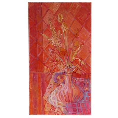 """Oil Painting """"Pink Jug"""", 1967"""