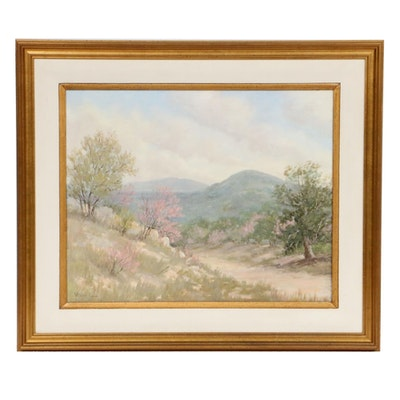 Vivian Love Foothills Landscape Oil Painting, Mid to Late 20th Century