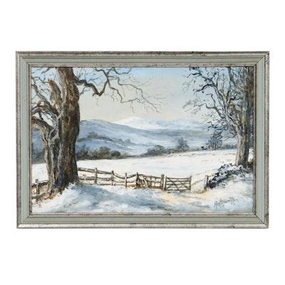 Antijuntti Oil Painting of Winter Landscape