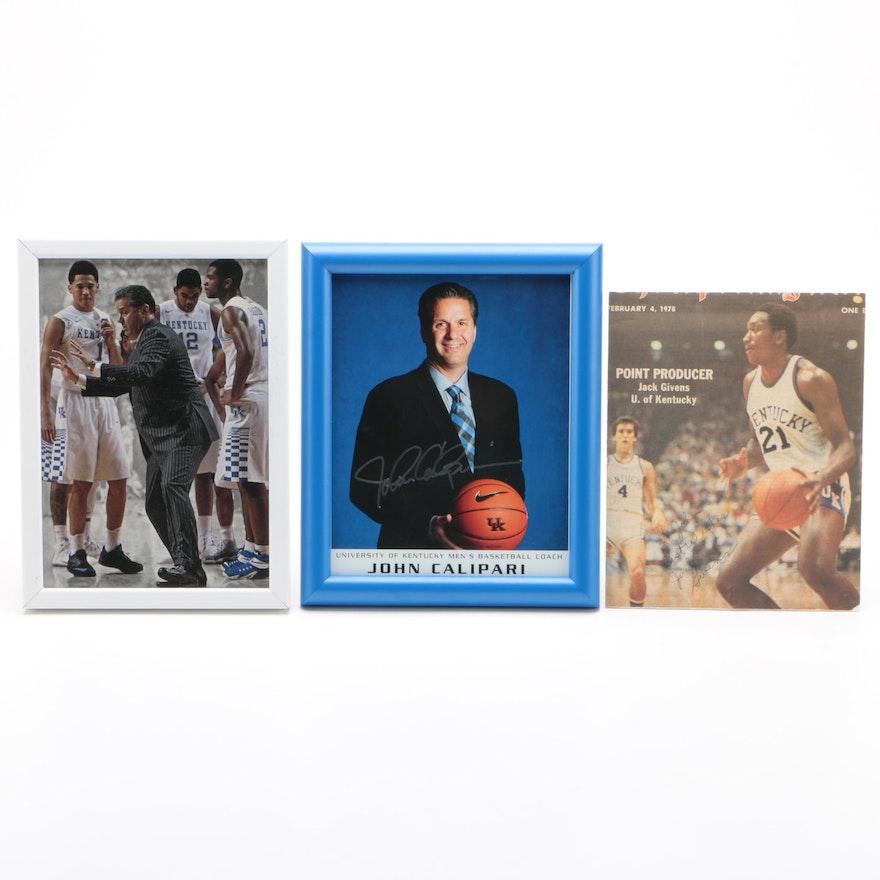 University of Kentucky Men's Basketball Signed Items
