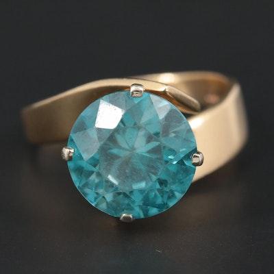 14K Yellow Gold Zircon Ring