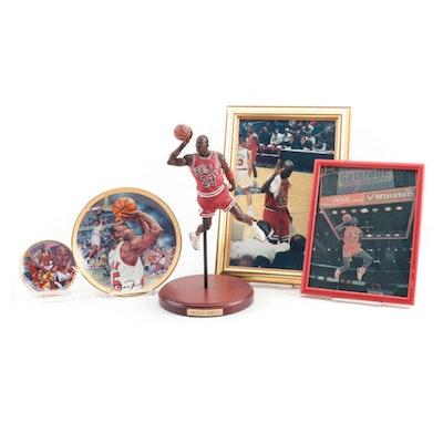 "Michael Jordan Chicago Bulls 2006 Upper Deck ""Slam Dunk"" Statue and More"