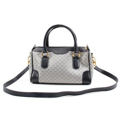 Gucci MicroGuccissima Supreme Canvas and Navy Leather Convertible Handbag