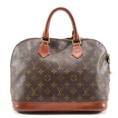 Louis Vuitton Alma PM Satchel in Monogram Canvas and Leather