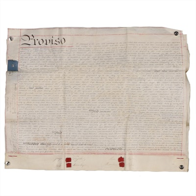 Vellum Indenture Documents For Regent Street Property Lease of London, 1837