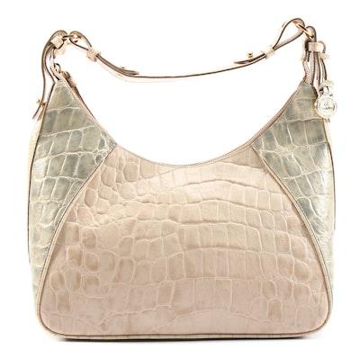 Brahmin Juliette Tricolor Embossed Leather Hobo Shoulder Bag
