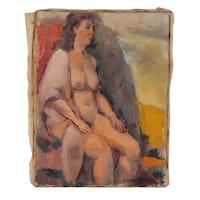 Edgar Yaeger Figure Oil Painting, 1981
