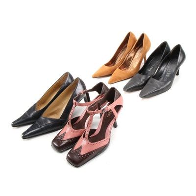 Adrienne Vittadini, Aerosoles, Anne Klein and Folio High T-Strap Heels and Pumps