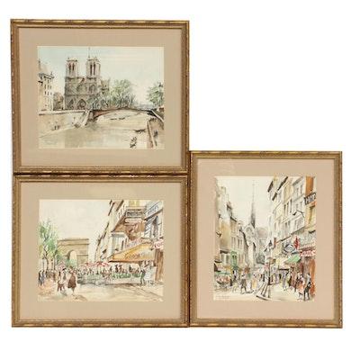 Parisian Hand-Colored Lithographs after Franz Herbelot
