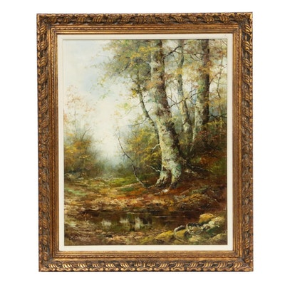 Fortunato Ornaghi Landscape Oil Painting