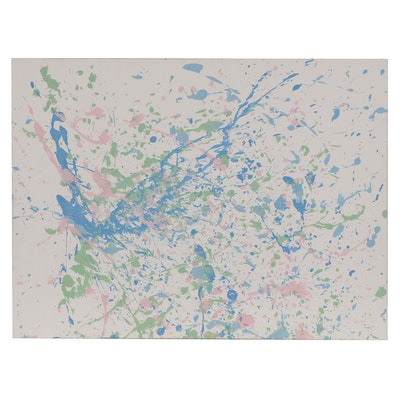 Abstract Acrylic Splatter Painting
