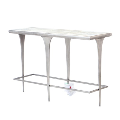 "Artistica Home ""Zephyr"" Onyx Top Console Table, Contemporary"