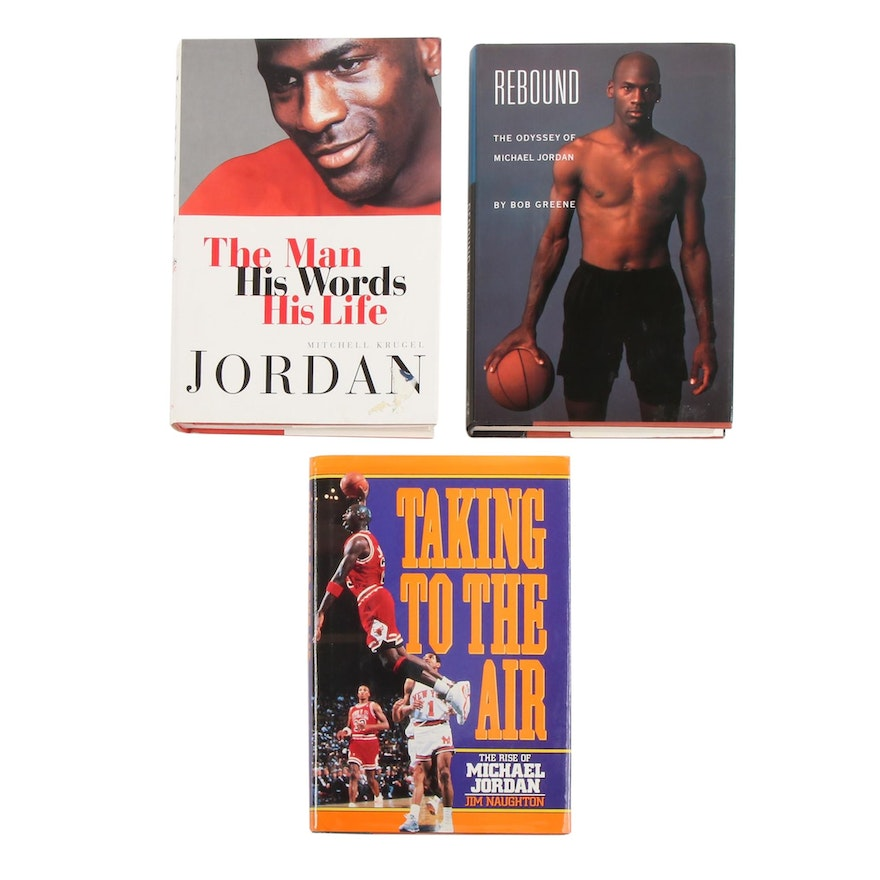 "First Edition ""Rebound: The Odyssey of Michael Jordan"" with Other Jordan Books"