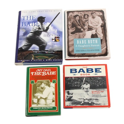 "Babe Ruth Nonfiction Books including First Edition ""The Babe"""