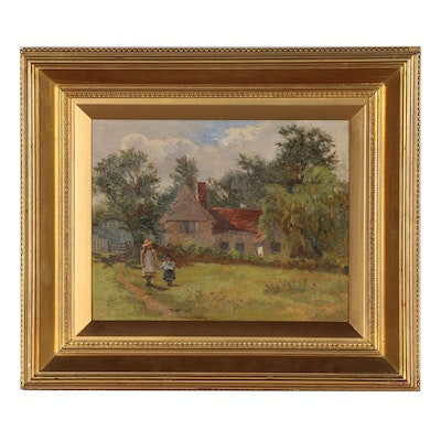 European School Oil Painting, Late 19th to Early 20th Century