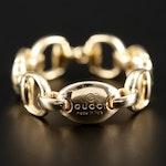 Gucci 18K Yellow Gold Horsebit Ring