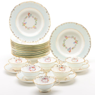 Minton Bone China Rim Soup Bowls, Sauce Bowls, and Saucers, 1892–1912