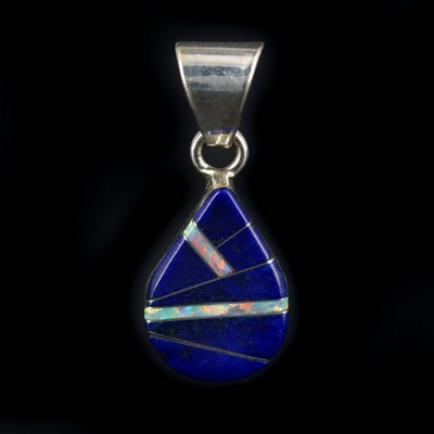 Sterling Silver Lapis Lazuli Inlay Pendant