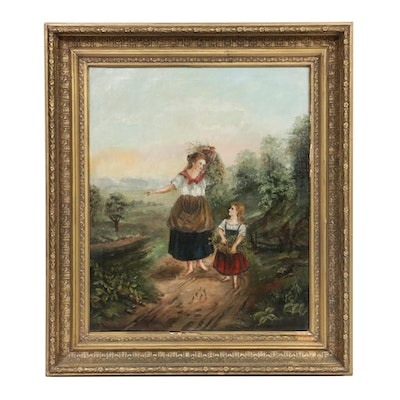 Continental School Style Oil Painting, Late 18th/Early 19th Century