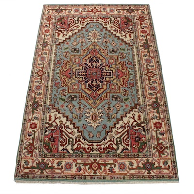 5'2 x 8'5 Hand-Knotted Indo-Persian Heriz Serapi Rug, 2010s