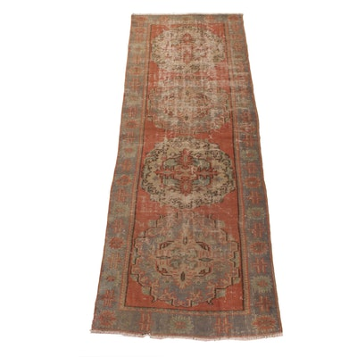 3'11 x 11'0 Hand-Knotted Persian Hamadan Wide Runner, 1930s