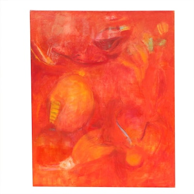 "Barbara Giles Oil Painting ""Summer Fruit"""