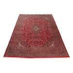 9'9 x 12'10 Hand-Knotted Persian Kashan Signed Rug, 1970s