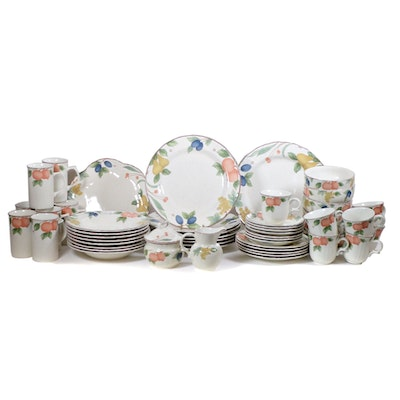 "Mikasa ""Fruit Panorama"" Earthenware Dinnerware, 53 Pieces, Late 20th Century"