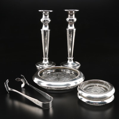 Sterling Silver and 900 Silver Table Accessories Including Reed & Barton