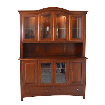 Richardson Bros. Co. Illuminated Cherry China Cabinet/Buffet, Late 20th Century