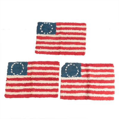 2' by 3' Country Originals Flag Themed Hooked Rugs