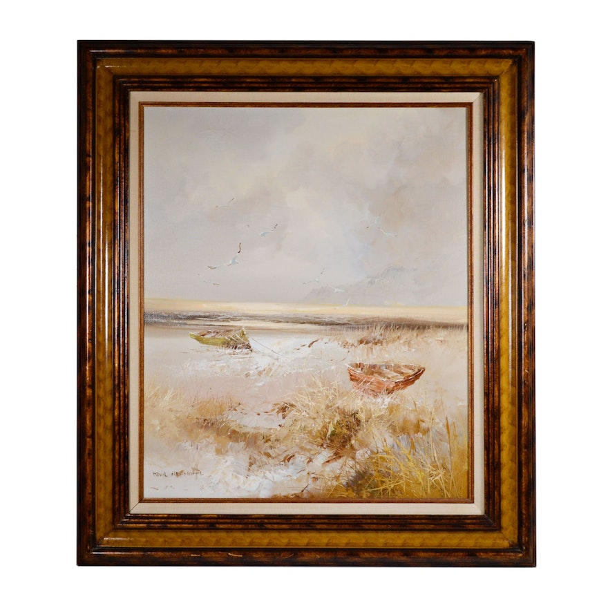 Karl Neumann Seascape Oil Painting