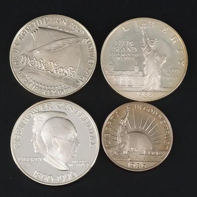 Three Modern Proof Commemorative U.S. Silver Dollars
